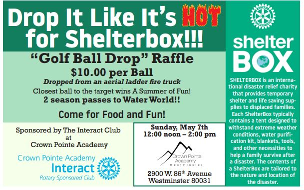 Golf Ball drop flyer